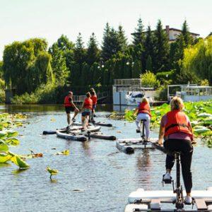 biciclete nautice Lac Snagov